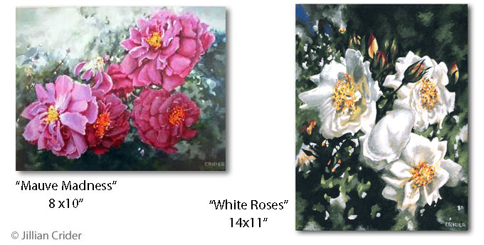 Acrylic artwork paintings by artistjillian - Jillian Crider 01 roses