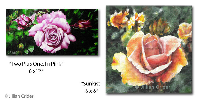 Jillian Crider - artistjillian acrylic paintings art roses