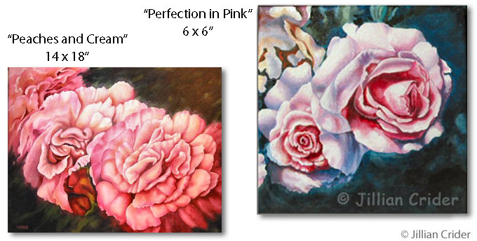 Roses Jillian Crider artistjillian acrylic paintings art